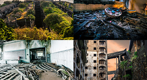 廃墟写真家ジョディー・ミャオの撮影した美しく幻想的な軍艦島