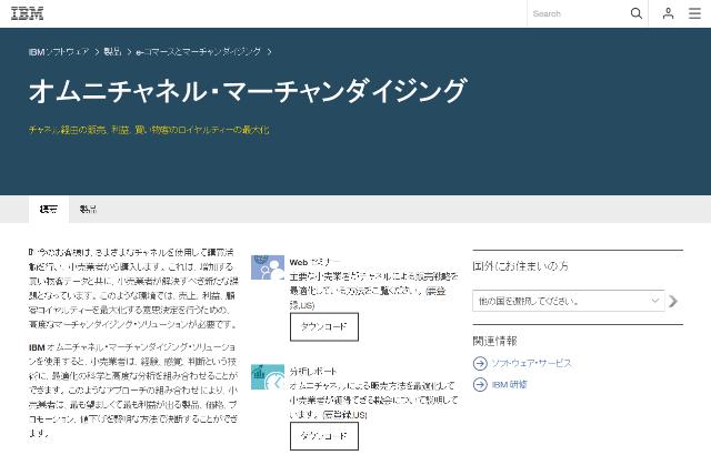 IBM オムニチャネル・マーチャンダイジング