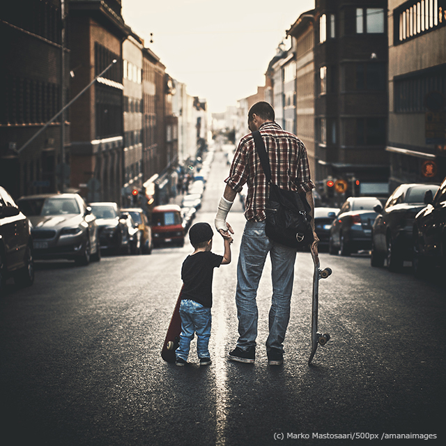 500px Photo ID: 65695345 - Father and son with their skateboards