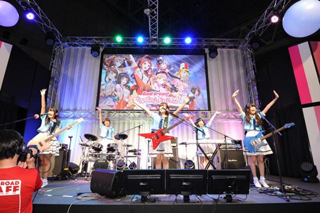 「バンドリ!」内のバンド「Poppin'Party」がイベントで演奏