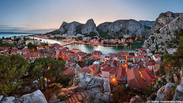 クロアチア Omis Old Town