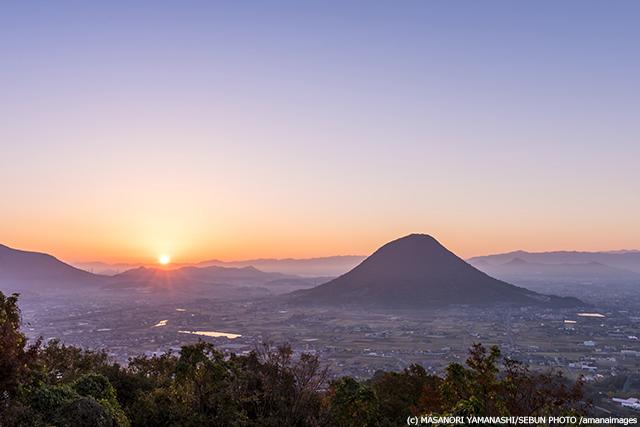 讃岐富士と朝日
