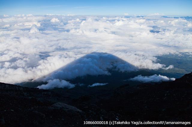 影富士と雲海